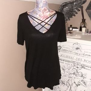 Bozzolo Sexy Black Strapped Top Large